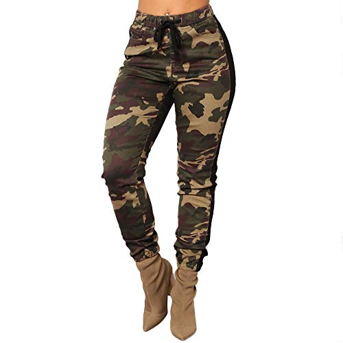 TIMEMEANS 2018 New Ladies Camo Trousers Pants Fashion Sexy Military Army Camouflage Pants -