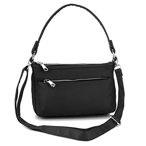 Negro UNYU para hombro al Bolso Bags Multicolor Crossbody mujer TqTwv8