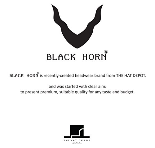 THE HAT DEPOT Black Horn Cotton Plain Pork Pie Hat (Large, Grey) by THE HAT DEPOT (Image #8)