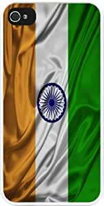 Rikki KnightTM India Flag Design Case For Ipod Touch 4 Cover Case For Ipod Touch 4 Cover (White Hard with bumper protection) Case For Ipod Touch 4 Cover