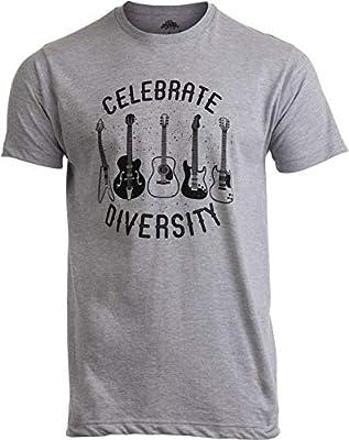 Celebrate Diversity | Funny Guitar Player Musician Music Joke Men Women T-Shirt