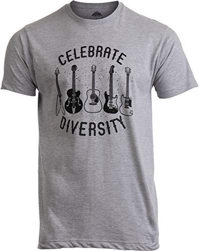 Celebrate Diversity | Funny Guitar Player Musician Music Joke Men Women T-Shirt-(Adult,XL)