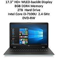 2018 Flagship HP 17.3 HD+ SVA BrightView WLED-backlit Display Notebook | Intel Dual-Core i3-7100U 2.4GHz | 8GB DDR4 | 2TB HDD | Webcam | DVD-RW | WIFI | Bluetooth | Windows 10 | Pale Mint