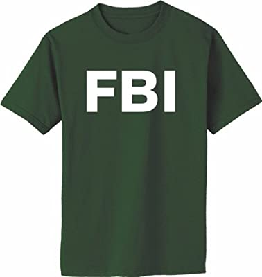 FBI on Adult & Youth Cotton T-Shirt (in 41 colors)