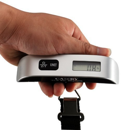 Camry 110 Lbs Luggage Scale with Temperature Sensor and Tare Function Gift For Traveler