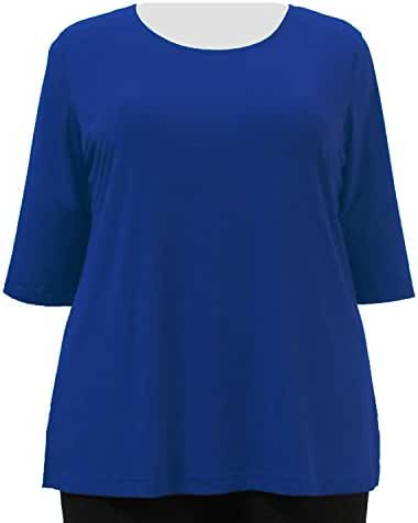 A Personal Touch Women's Plus Size Cobalt Top