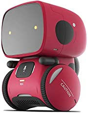 Artificial Intelligence Dancing Robot | Interactive Smart Robot Toy With Voice Control | Voice Repeating | Touch Sensitive Voice Recording | Gift for boy and girls 3 4 5 6 7 8 9 10 years old (Red)