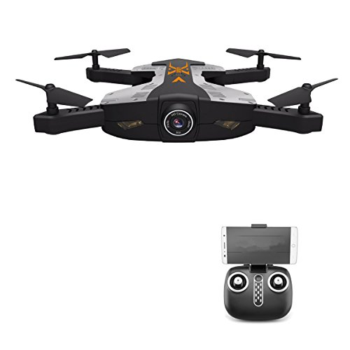 SZJJX FPV RC Drones Foldable Remote Control Quadcopter with 720P HD Wide-Angle WiFi Camera 2.4Ghz 6-Axis Gyro 4CH VR Helicopter Rtf One Key Return