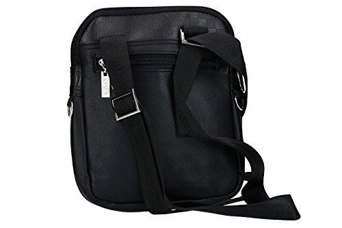 Umgehängt herren COVERI WORLD schwarz bandolier Taschen Kleine platt VF403