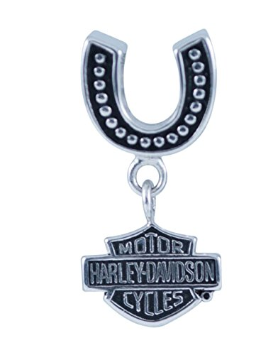 Harley-Davidson Womens .925 Silver Horseshoe with Dangling B&S Ride Bead