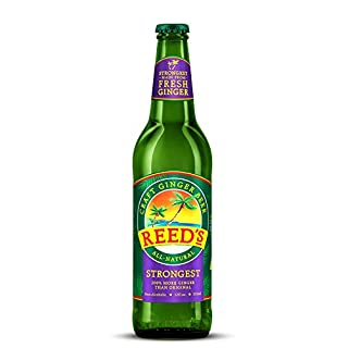 Reed's Stronger Ginger Beer 12 fl oz (355 ml) (Pack of 4 Bottles)