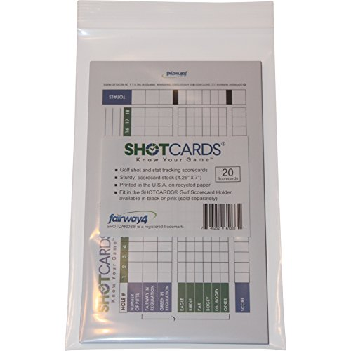 SHOTCARDS Golf Shot and Stat Tracking Scorecards