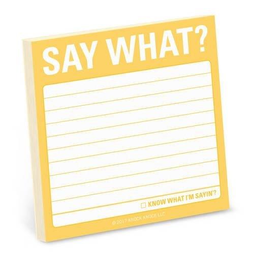 Knock Knock Say What? Sticky Note pdf epub