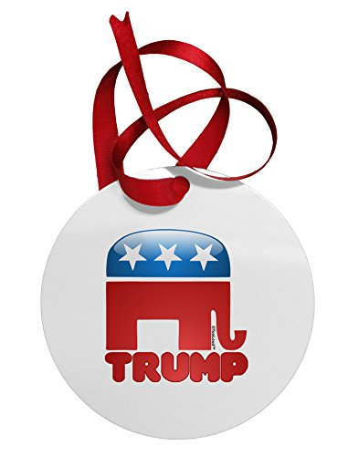 TooLoud Trump Bubble Symbol Circular Metal Ornament (For Az Sale Christmas Trees Phoenix)