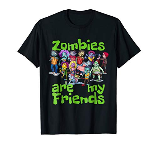 Original Zombies Are My Friends Halloween T-Shirt]()