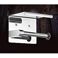 Toilet Paper Roll Holder 304 Stainless Steel Storage Hanger Shelf Cover