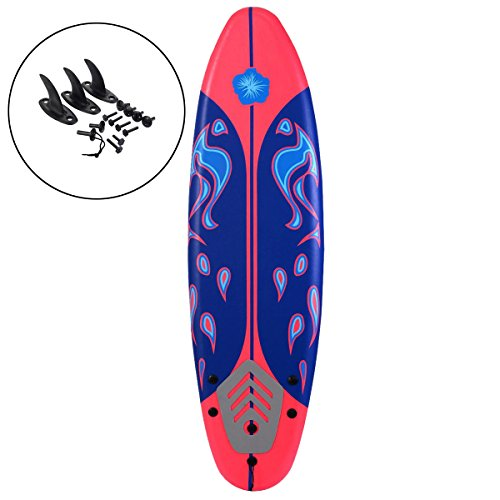 Grande Juguete 6′ Surfboard Surf Ocean Beach Foamie Boards Great For All Surfing Skill Levels