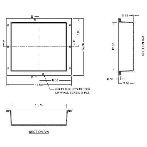 "Tile Redi RN1614S-BI 16"" W x 14"" H Single Niche with 6 lb set of Redi Poxy Epoxy delicate"