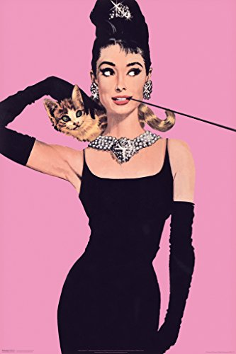 (Audrey Hepburn Pink Poster - 11x17)