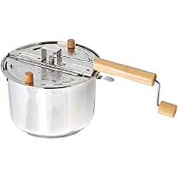 Wabash Valley Farms Whirley Pop Stovetop Popcorn Popper with Popping Kit (Stainless Steel)