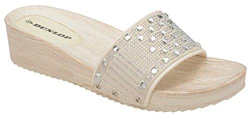 Dunlop Destalonada de Material Sintético Mujer blanco 1