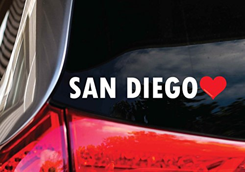 (San Diego Heart Window Decal Sticker 8