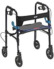 Drive Medical Deluxe Clever Lite Rollator Walker with Casters