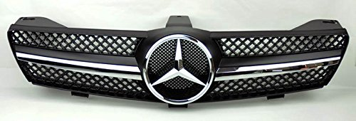 Discount 05-08 W219 Mercedes CLS-Class Black 1 Fin Sport Front Grille With Center Star For CLS500 CLS550 CLS55 AMG for sale