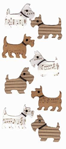 Dog 2009 Mini Calendar - Unique Designs Scrapbook Mini Embellishment Cardstock Stickers for Scrapbooking-Art Works-Albums-Calendars-Greeting & Invitation Cards- Trees (Scottish Dog)