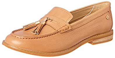 Hush Puppies Women?s Chardon Penny Loafer Flats Natural Embossed Leather 5 US