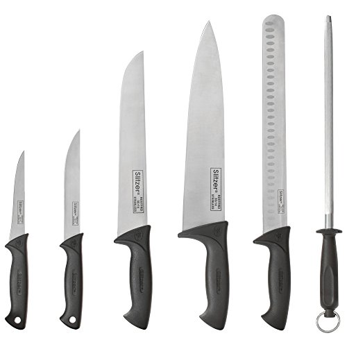 Slitzer Germany 6 Piece Chef's Knife Set, Professional Grade Chef Knives In Convenient Carry Case by Slitzer Germany (Image #1)