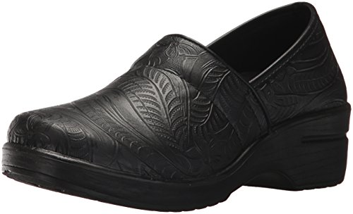 Easy Works Women's LYNDEE Health Care Professional Shoe, Black Emboss 10 M US ()