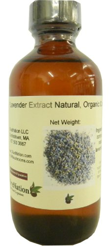 Natural Lavender Extract- Organic Compliant 4 oz, 4 Ounce (Culinary Lavender)