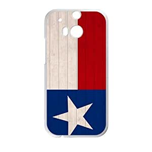 DAZHAHUI Texas Flags Cell Phone Case for HTC One M8
