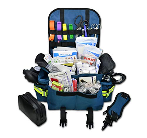Emt Gel Aid First - Lightning X Small First Responder EMT EMS Trauma Bag Stocked First Aid Fill Kit B (Navy Blue)