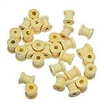 HUNGUPA 100pcs Natural Cylinder Wooden Spools 14mm X12.6mm Thread Coil & Bobbin Reel Bead Wooden 70mm Wedding Bobbin Cotton Bobbin Thread Fabric Wood Cylinder Lens Bead Sens