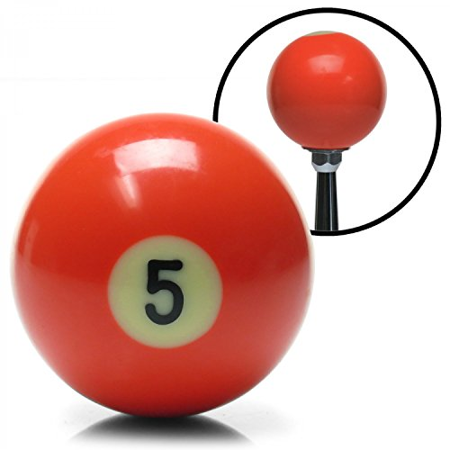 American Shifter 96050 Solid Orange 5 Ball Billiard Pool Shift Knob ()