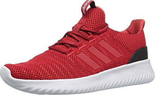 adidas Men's Cloudfoam Ultimate Running Shoe, Scarlet/Scarlet/Black, 11 M US