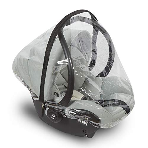 Car Seat Rain Cover - Universal Vinyl Weather Shield Fits Doona and Most Infant Carrier Brands - Easy Access Zipper, Ventilation Holes - Waterproof, Snow and Dust Proof - by Bedford Baby