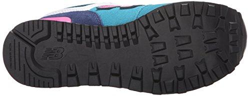 New Balance KL574 Summer Utility Grade Running Shoe (Big Kid) Blue/Pink