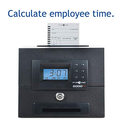 Pyramid 5000HD Heavy Duty Steel Auto Totaling Time Clock - Made in the USA by Pyramid Time Systems (Image #1)