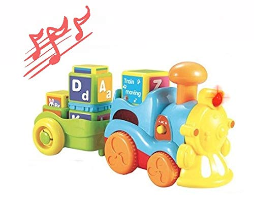 MeeYum Kids ABC Musical Phonics Train Toddler Learn W / Alphabet Blocks Sing Along Self Driving Toy Train