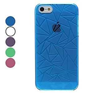 Triangle Pattern Hard Case for iPhone 5/5S (Assorted Colors) --- COLOR:Blue