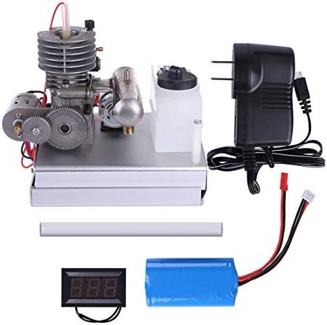 PeleusTech Level 15 Gasoline Engine Model DIY Modified Miniature Low Voltage Generator Set Mini Generator Model for Teaching Gift Experiment - Finished Product Methanol Engine / PeleusTech Level 15 Gasoline Engine Model DIY Modifie...