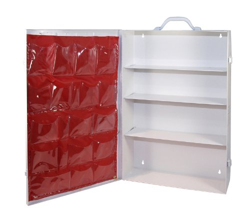Medique Products 701MTM 4 Shelf First Aid Cabinet with Pockets, Empty Large Industrial First Aid