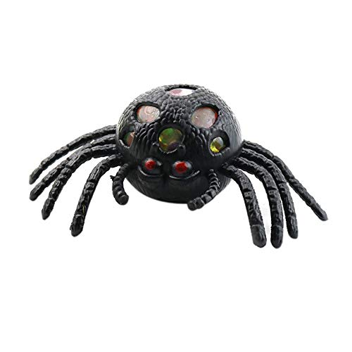 (Livoty Halloween Toys Cute Spider Mesh Ball Stress Squeeze Grape Toys Anxiety Stress Relief Ball)