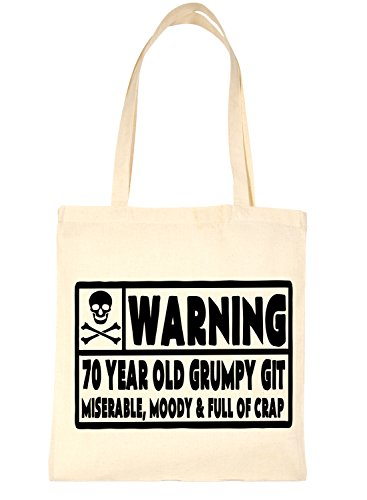 Tote Natural Year Old Git Bag Print4u Birthday 70 For Life Shopping nvBUx4R5W