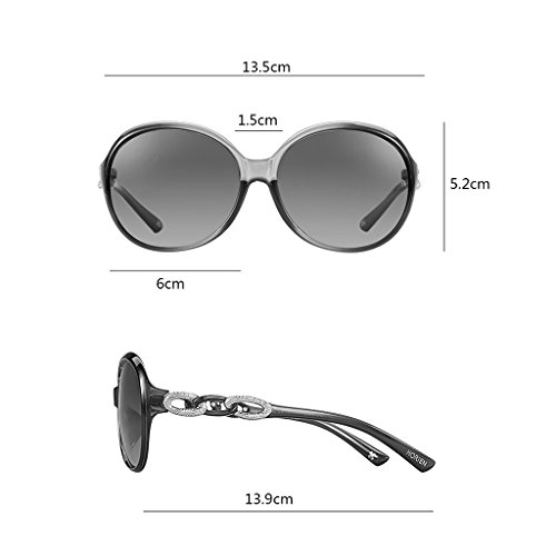 Purple soleil Dame cadre de grand Black ronde de lunettes face SxZqz7fwq