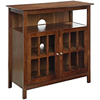 Convenience Concepts 8066070DWN Big Sur Television Stand, Dark Walnut