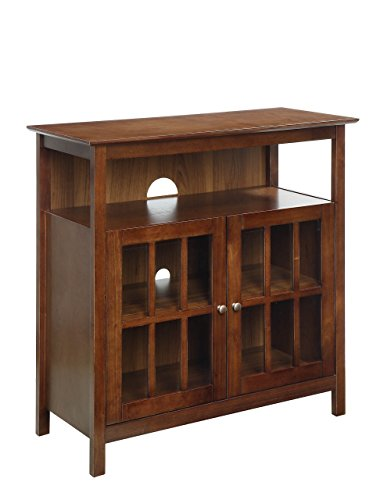 Enclosed Tv - Convenience Concepts 8066070DWN Big Sur Television Stand, Dark Walnut